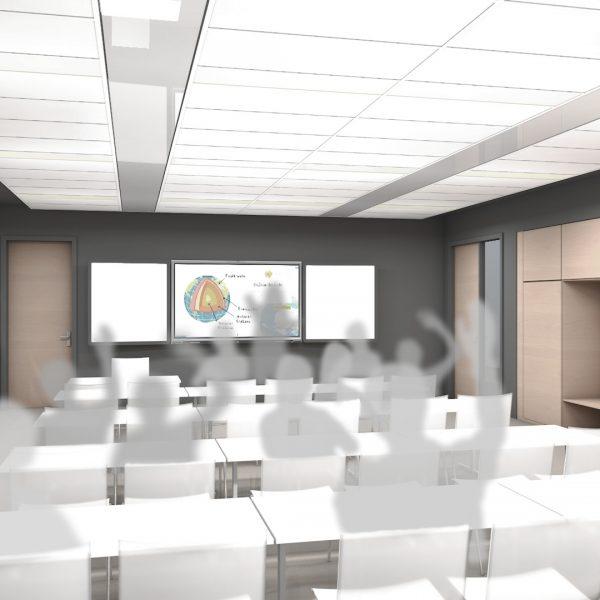 Visualisierung eines Klassenraums